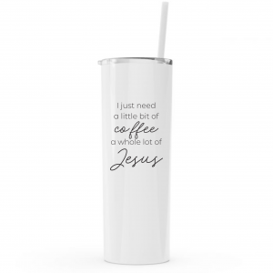 20oz lidded tumbler with straw